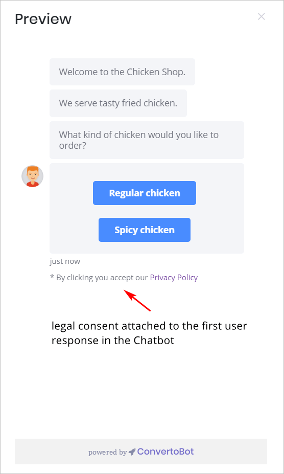 Legal consent in the Bot