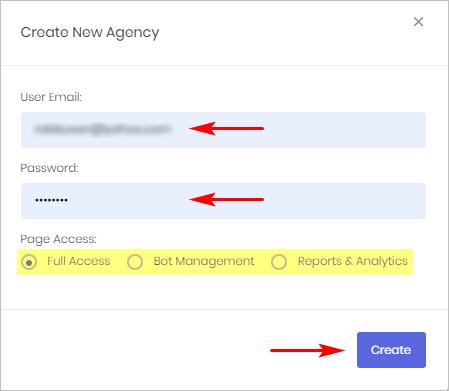Create a new Sub-user
