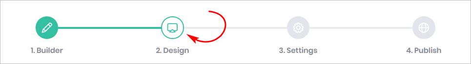 Design page button