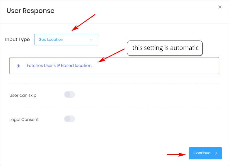 User Response_Geo Location