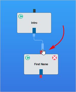 linked message blocks