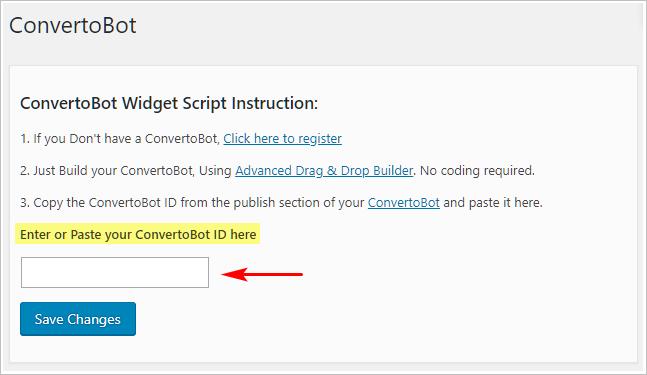 Convertobot Widget Script instrution