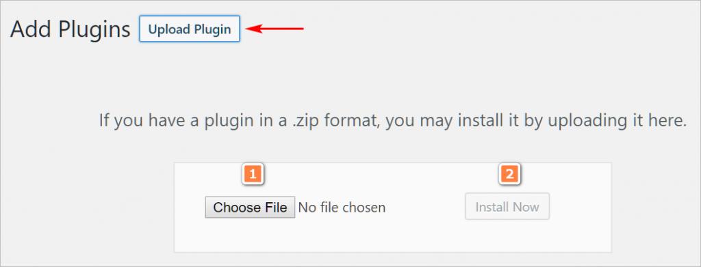 WordPress plugin download zip file