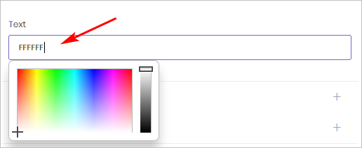 Bot Text Color Settings